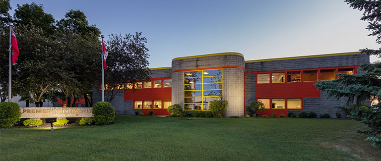 Exterior picture of Premier Printing Building