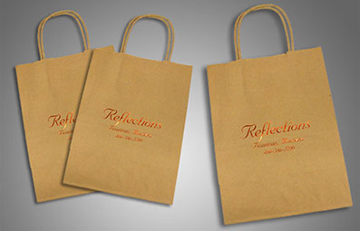 Speciality printing on a bag